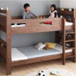 two-children-on-doubledeck-bed