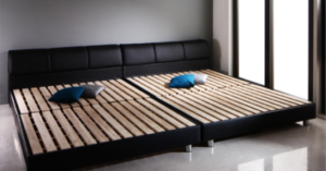 floor-board-leather-bed