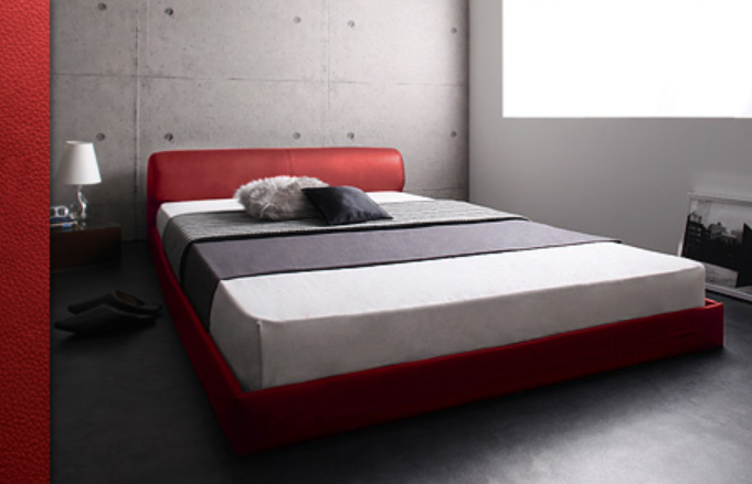 red-leather-bed