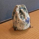 裏袋付き巾着袋の製作